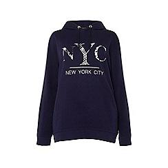 Dorothy Perkins - Curve navy NYC hoodie