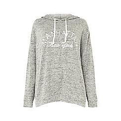 Dorothy Perkins - Curve grey manhattan brushed hoodie