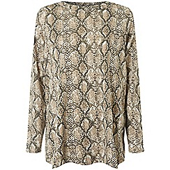 Dorothy Perkins - Curve multi colour snake print boat neck top