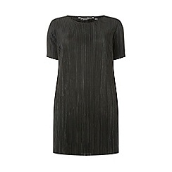Dorothy Perkins - Curve black plisse tunic top