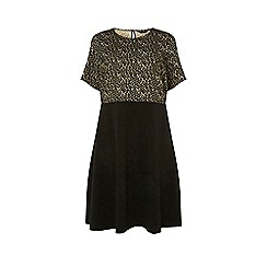 Dorothy Perkins - Curve multi coloured leopard print 2-in-1 dress