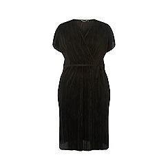 Dorothy Perkins - Curve Black Plisse Wrap Dress