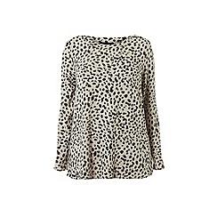 Dorothy Perkins - Curve White Leopard Print Brushed Boat Neck Top