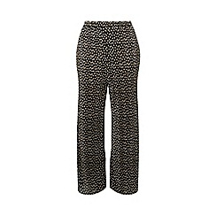 Dorothy Perkins - Curve Black Spot Print Plisse Palazzo Trousers
