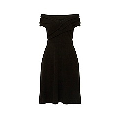 Dorothy Perkins - Curve black bardot fit and flare dress