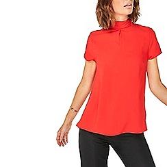 Dorothy Perkins - Red turn back t-shirt