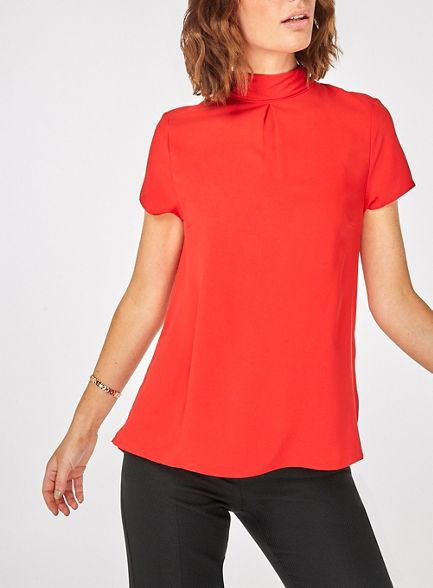 t shirt Red Dorothy Perkins back turn nwgSTxf