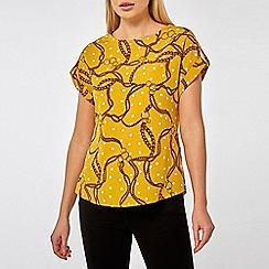 Dorothy Perkins - Ochre spot chain t-shirt