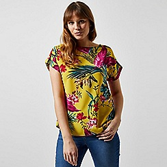 Dorothy Perkins - Lime Tropical Print Top