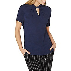 Dorothy Perkins - Navy twist neck top