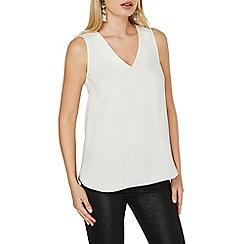 Dorothy Perkins - Ivory embellished shoulder top