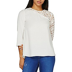 Dorothy Perkins - Ivory lace insert top