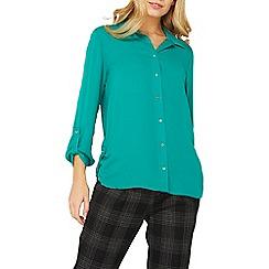 Dorothy Perkins - Green tab roll sleeve shirt