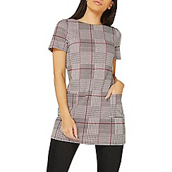 Dorothy Perkins - Black and pink checked tunic top