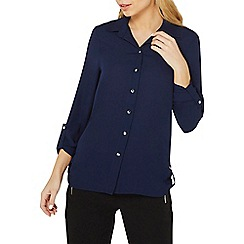 Dorothy Perkins - Navy tab roll sleeve shirt