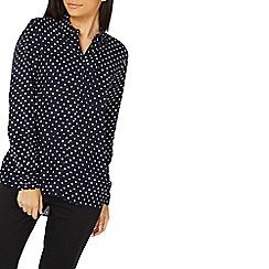 Dorothy Perkins - Navy spotted shirt