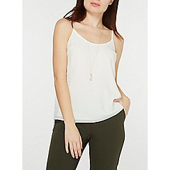 Dorothy Perkins - Ivory strappy camisole top