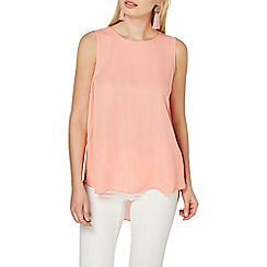 Dorothy Perkins - Coral sleevesless shell top