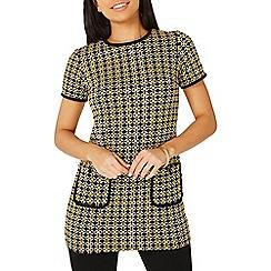 Dorothy Perkins - Yellow geometric print tunic top