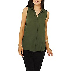 Dorothy Perkins - Khaki sleevesless shirt