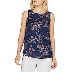 Dorothy Perkins - Blue floral print sleeveless top