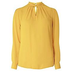 Dorothy Perkins - Ochre twist neck blouse