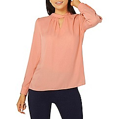 Dorothy Perkins - Coral twist neck blouse