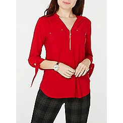 Dorothy Perkins - Red 3/4 sleeve jersey shirt