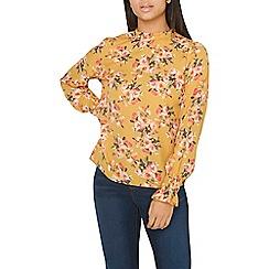 Dorothy Perkins - Ochre floral print pie crust blouse