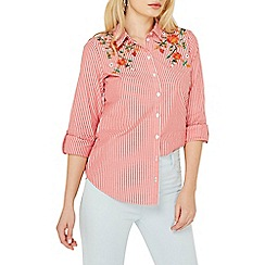 Dorothy Perkins - Red striped embroidered shirt
