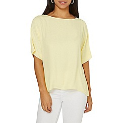 Dorothy Perkins - Lemon slouch top