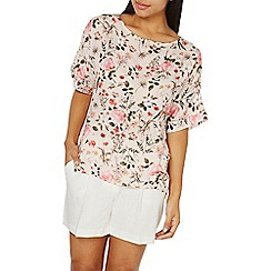 Dorothy Perkins - Blush slouch floral top