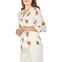 Dorothy Perkins - Ivory floral shirt