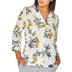 Dorothy Perkins - Ivory floral long sleeve shirt
