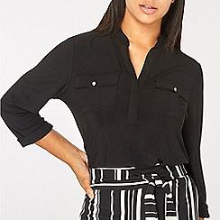 Dorothy Perkins - Black jersey utility shirt