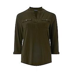Dorothy Perkins - Khaki jersey utility shirt