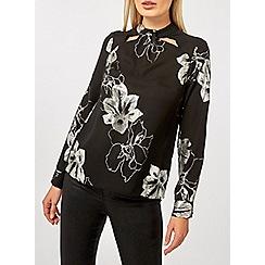 Dorothy Perkins - Black foil emily long sleeves top