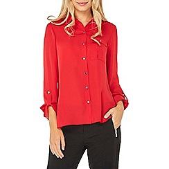 Dorothy Perkins - Red pocket roll sleeve shirt