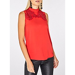 Dorothy Perkins - Red sequin sleeveless top