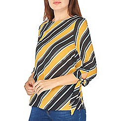 Dorothy Perkins - Ochre striped tie sleeve top