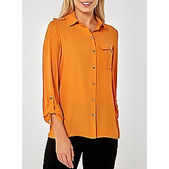 Dorothy Perkins - Mango pocket roll sleeve shirt