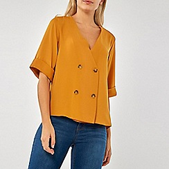 Dorothy Perkins - Mustard four button wrap top