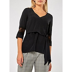Dorothy Perkins - Black lace wrap top