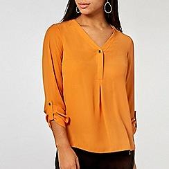 Dorothy Perkins - Mango button roll sleeve shirt
