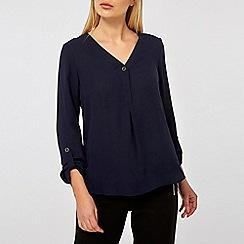 Dorothy Perkins - Navy roll sleeve shirt