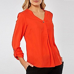 Dorothy Perkins - Orange Roll Sleeve Shirt