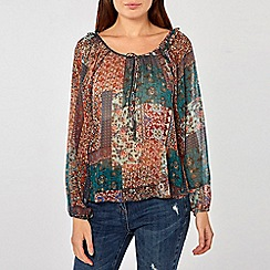 Dorothy Perkins - Multicolour Paisley Print Long Sleeve Top