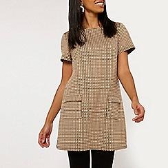 Dorothy Perkins - Camel geometric print tunic dress
