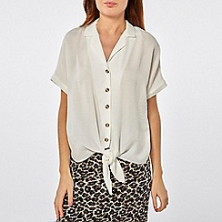 Dorothy Perkins - Ivory button through shirt