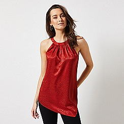 Dorothy Perkins - Rust Jacquard Asymmetric Top